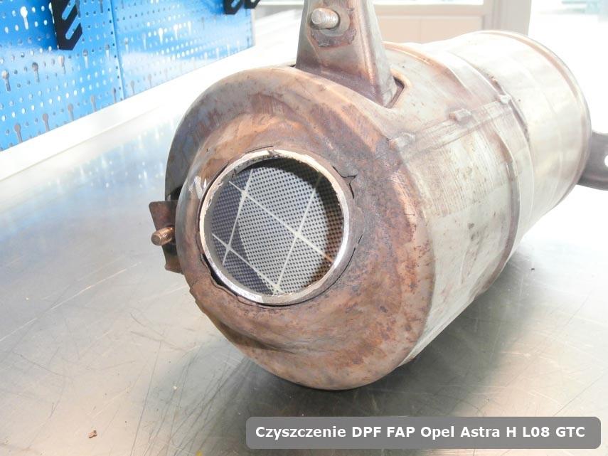 Filtr DPF i FAP Opel Astra H L08 GTC wyczyszczony w specjalistycznym urządzeniu gotowy do instalacji