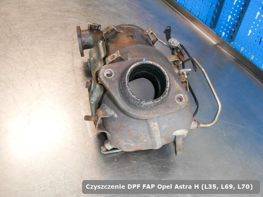 Filtr cząstek stałych Opel Astra H (L35, L69, L70) dopalony na dedykowanej maszynie gotowy do wysyłki