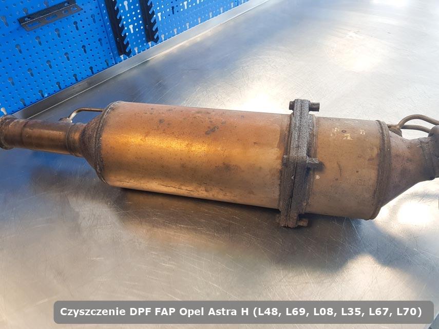 Filtr cząstek stałych DPF Opel Astra H (L48, L69, L08, L35, L67, L70) oczyszczony na specjalnej maszynie gotowy do montażu
