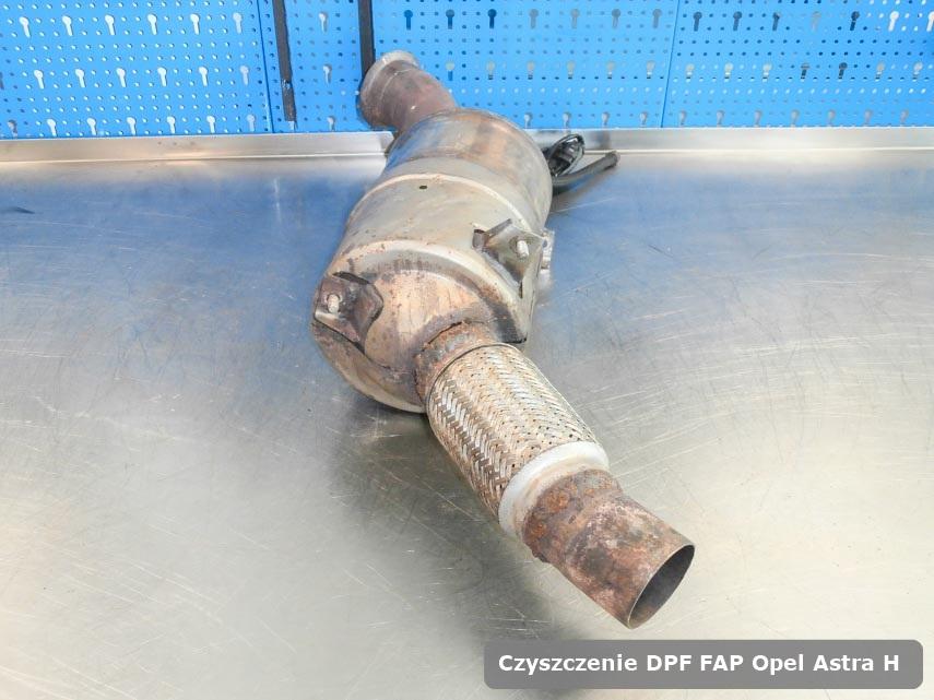 Filtr DPF i FAP Opel Astra H wyczyszczony na specjalnej maszynie gotowy spakowania
