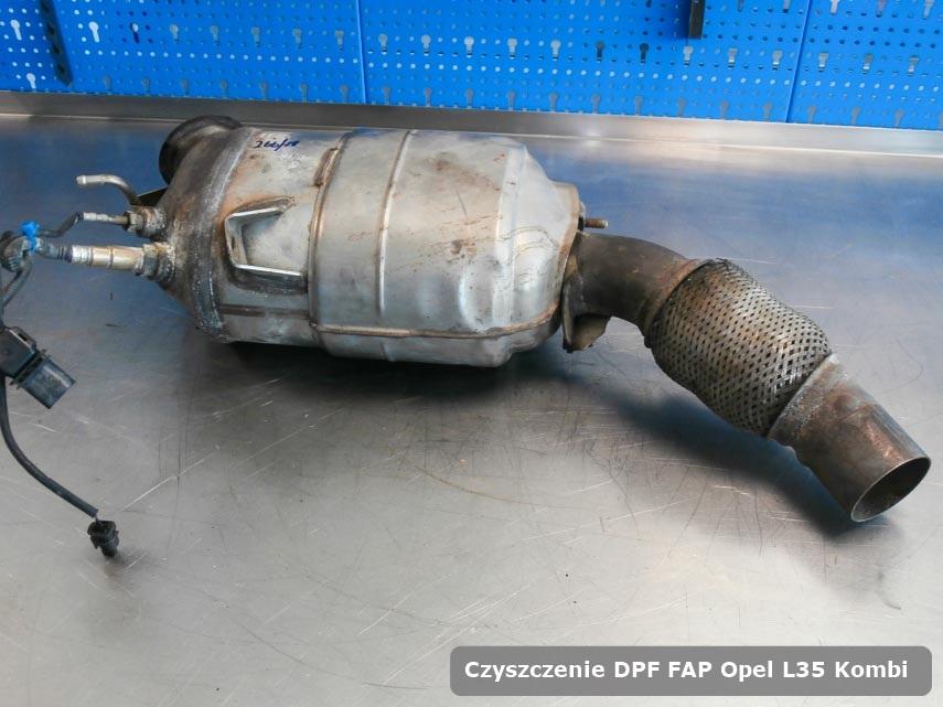 Filtr DPF i FAP Opel L35 Kombi wypalony na specjalistycznej maszynie gotowy do montażu