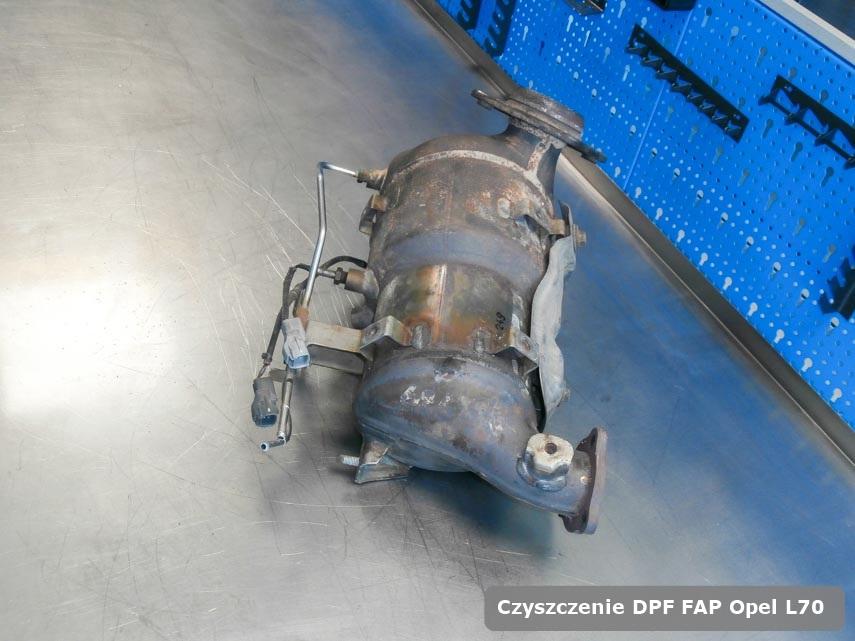 Filtr cząstek stałych DPF Opel L70 wypalony w specjalistycznym urządzeniu gotowy do instalacji