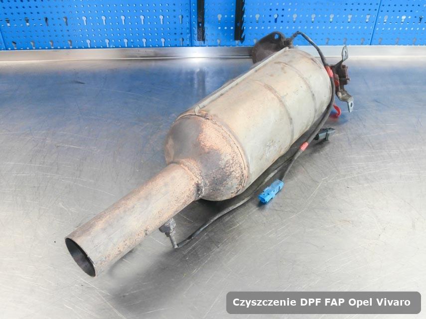 Filtr DPF Opel Vivaro dopalony w specjalnym urządzeniu gotowy spakowania