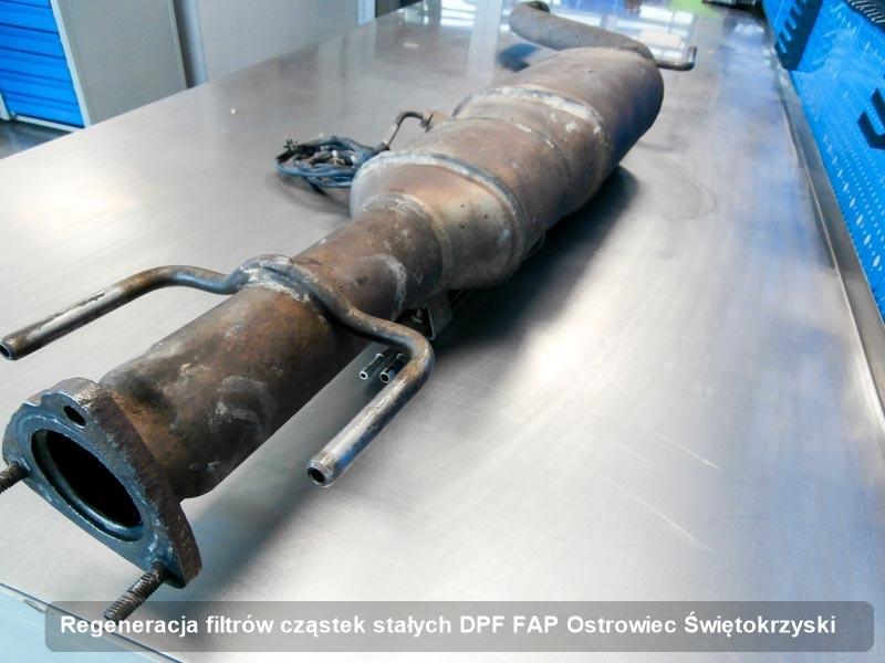 Filtr cząstek stałych DPF FAP zregenerowany w pracowni w Ostrowcu Świętokrzyskim