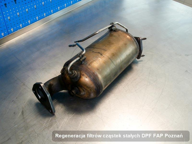Filtr cząstek stałych po regeneracji w pracowni z Poznania