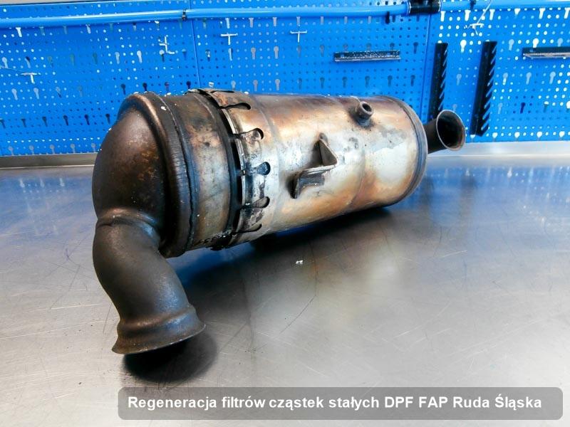 Filtr cząstek stałych po regeneracji w przedsiębiorstwie w Rudzie Śląskiej