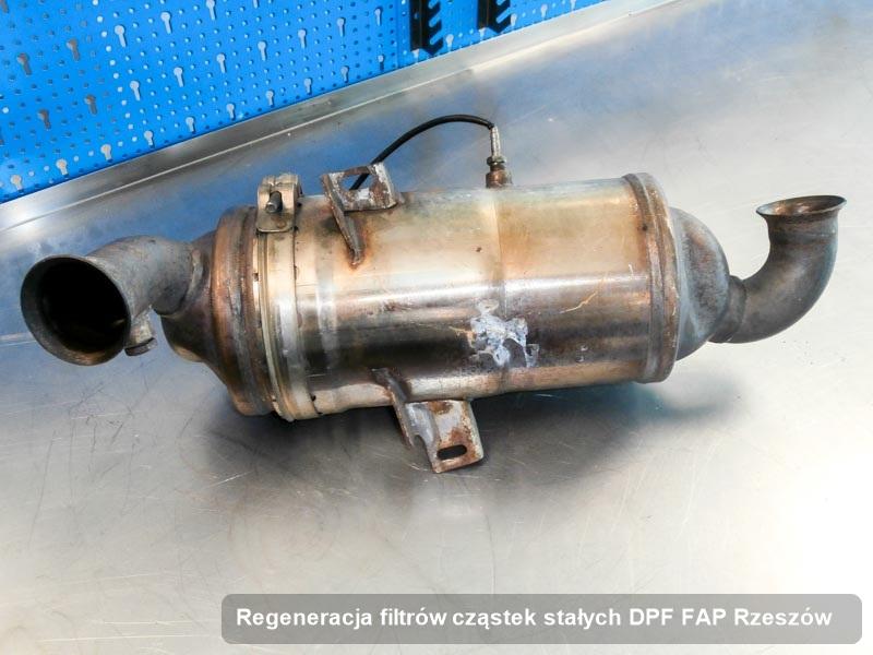 Filtr cząstek stałych DPF FAP po regeneracji w firmie z Rzeszowa