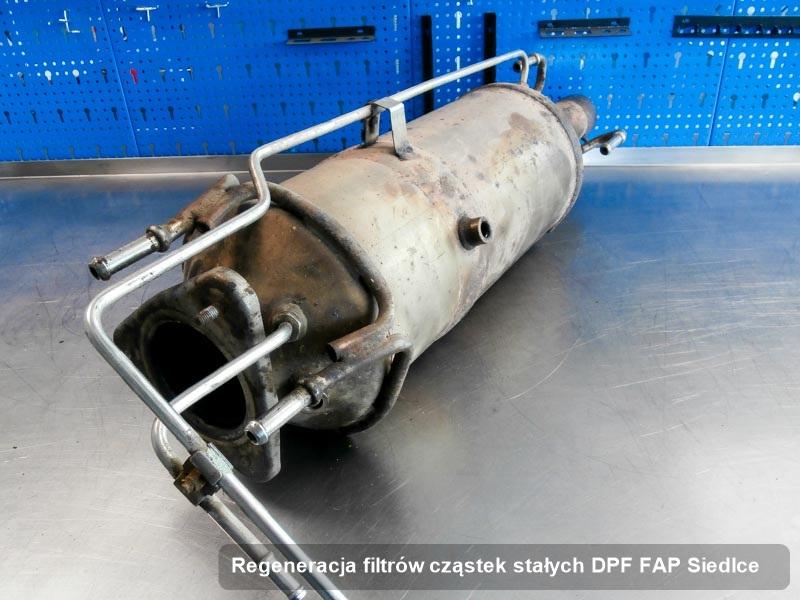 Filtr DPF po regeneracji w warsztacie z Siedlec