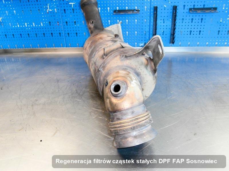 Filtr FAP zregenerowany w firmie w Sosnowcu