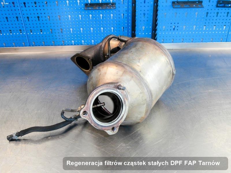 Filtr cząstek stałych DPF FAP po regeneracji w pracowni z Tarnowa