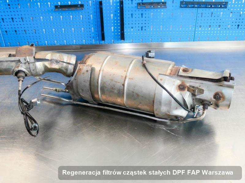 Filtr cząstek stałych DPF FAP wyczyszczony w pracowni w Warszawie