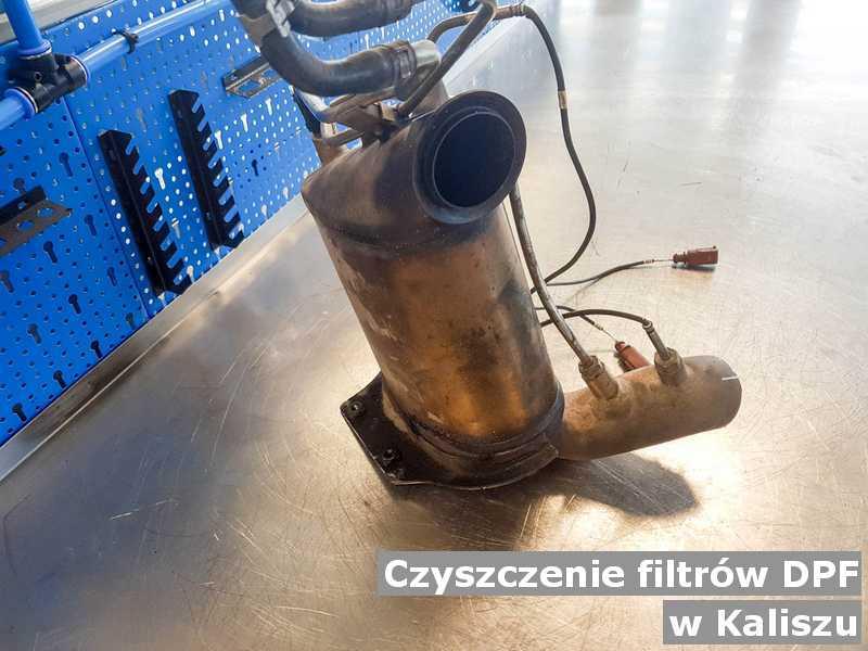 Filtr DPF gotowy w laboratorium w Kaliszu.