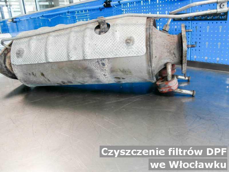Filtr DPF oczyszczony w punkcie obsługi technicznej w Włocławku.