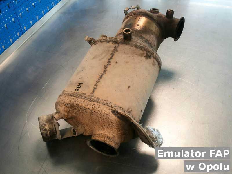 Filtr DPF (brak emulatora) wyczyszczony w warsztacie samochodowym w Opolu.