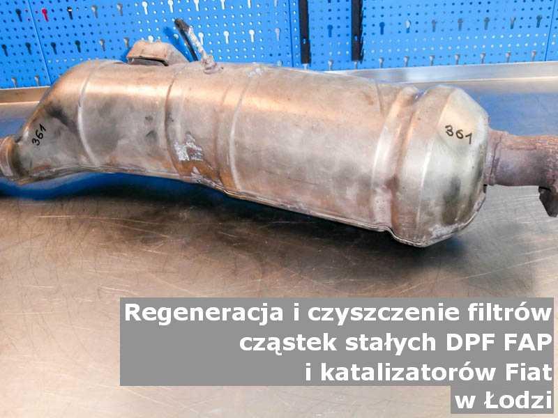 Myty filtr marki Fiat, w specjalistycznej pracowni, w Łodzi.