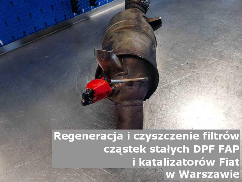 Naprawiony katalizator SCR marki Fiat, w laboratorium, w Warszawie.