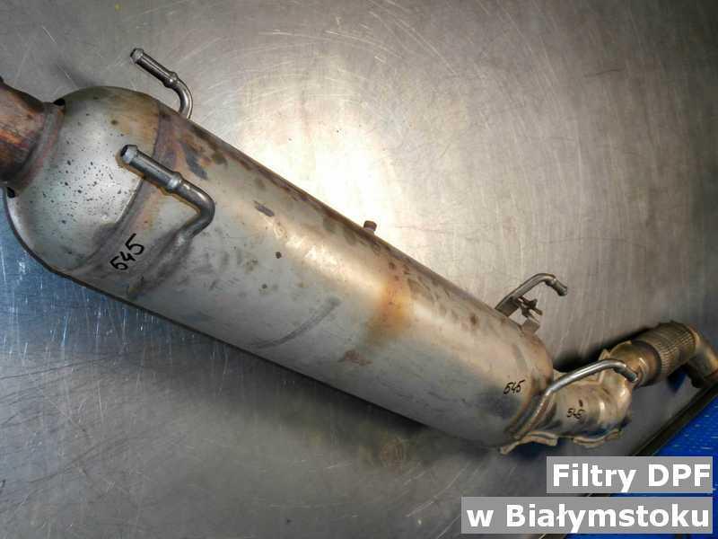 Filtr DPF przygotowany w warsztacie w Białymstoku.