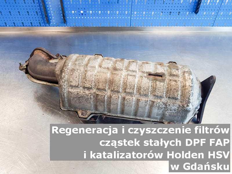 Myty katalizator samochodowy marki Holden (HSV), w pracowni regeneracji, w Gdańsku.