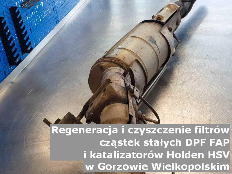Umyty filtr cząstek stałych GPF marki Holden (HSV), w specjalistycznej pracowni, w Gorzowie Wielkopolskim.