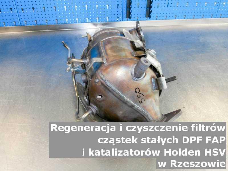 Zregenerowany filtr cząstek stałych DPF/FAP marki Holden (HSV), w pracowni laboratoryjnej, w Rzeszowie.
