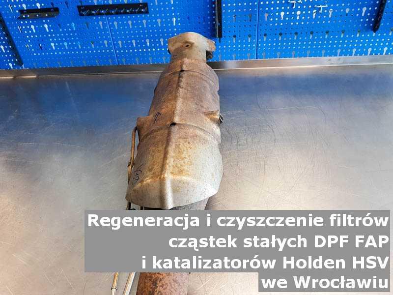 Oczyszczony katalizator SCR marki Holden (HSV), w warsztacie, w Wrocławiu.