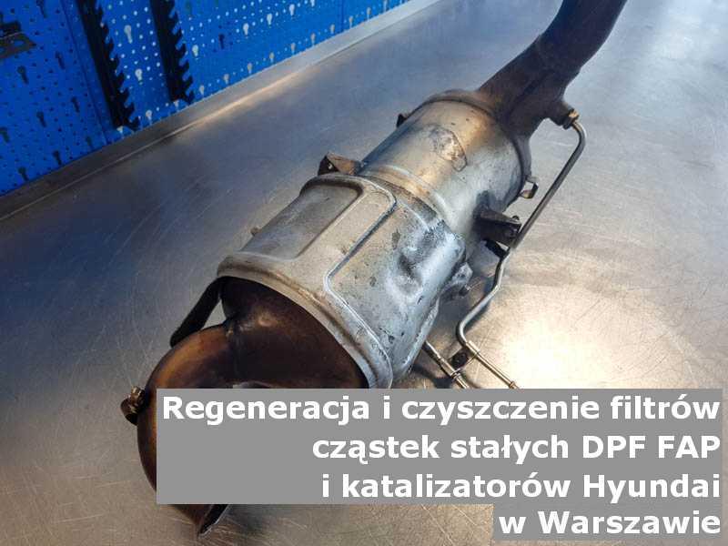 Myty katalizator samochodowy marki Hyundai, w pracowni, w Warszawie.