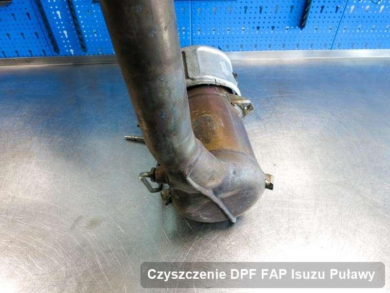 Filtr DPF i FAP do samochodu marki Isuzu w Puławach wyczyszczony na odpowiedniej maszynie, gotowy spakowania