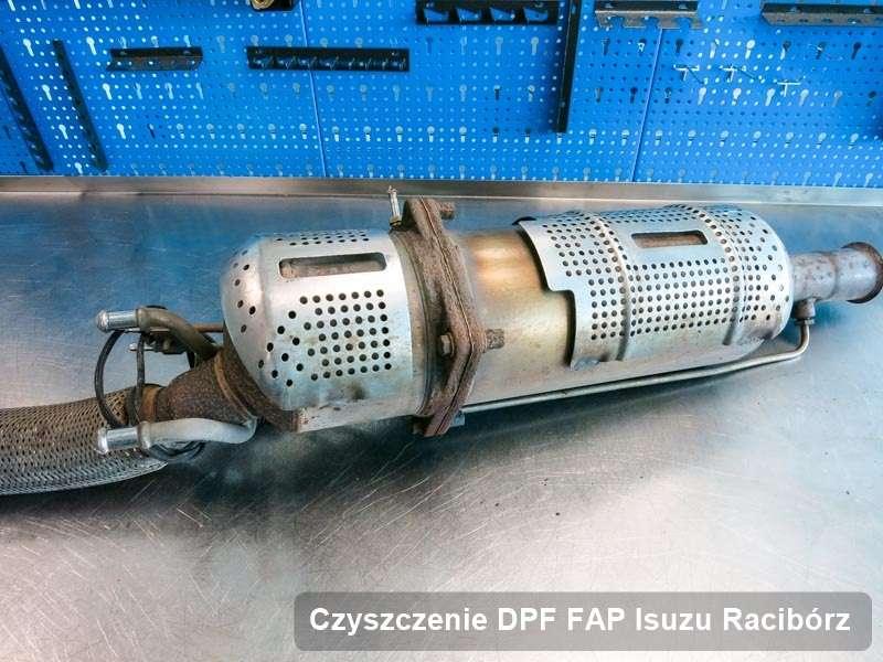 Filtr cząstek stałych DPF do samochodu marki Isuzu w Raciborzu zregenerowany w dedykowanym urządzeniu, gotowy do montażu
