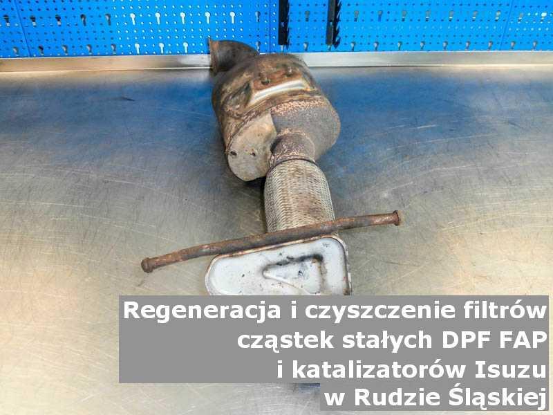 Zregenerowany filtr DPF marki Isuzu, w specjalistycznej pracowni, w Rudzie Śląskiej.