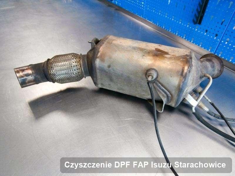 Filtr cząstek stałych DPF I FAP do samochodu marki Isuzu w Starachowicach naprawiony na specjalnej maszynie, gotowy do montażu