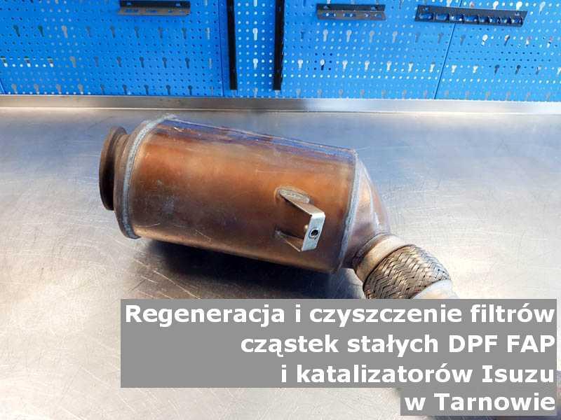 Naprawiony katalizator samochodowy marki Isuzu, w laboratorium, w Tarnowie.