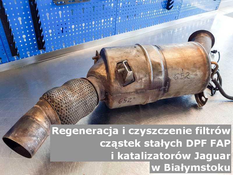 Wypłukany katalizator samochodowy marki Jaguar, w specjalistycznej pracowni, w Białymstoku.
