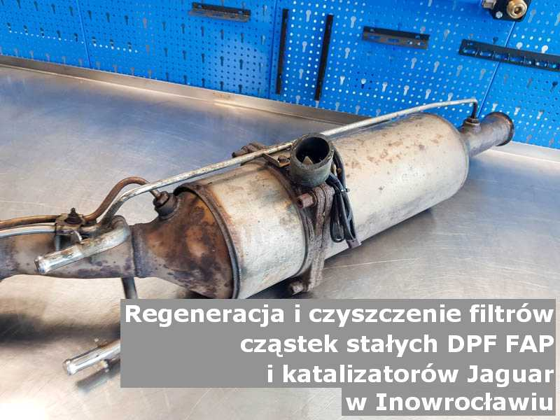 Wypalany filtr cząstek stałych marki Jaguar, w pracowni laboratoryjnej, w Inowrocławiu.