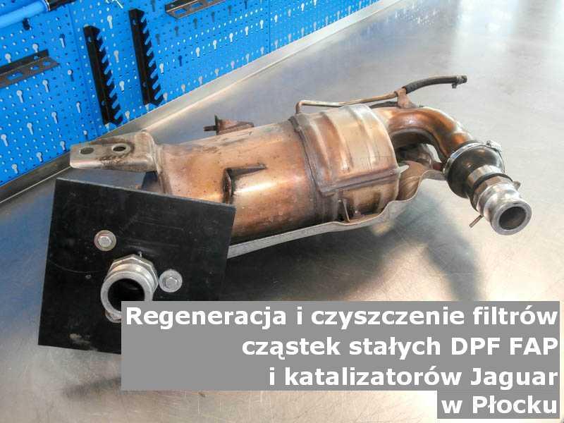 Regenerowany filtr DPF marki Jaguar, w laboratorium, w Płocku.