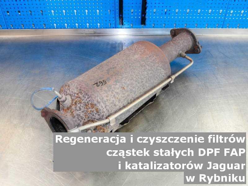 Myty filtr FAP marki Jaguar, w specjalistycznej pracowni, w Rybniku.