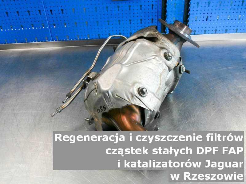 Regenerowany filtr marki Jaguar, w warsztatowym laboratorium, w Rzeszowie.