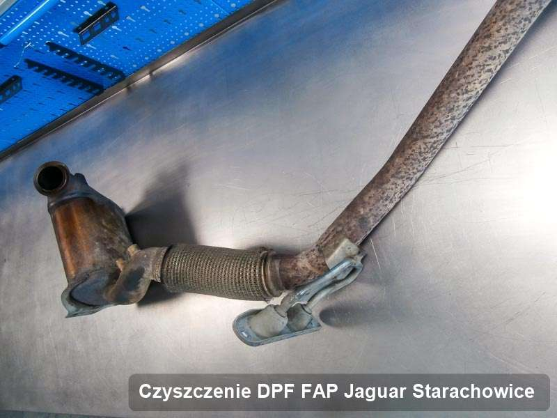 Filtr FAP do samochodu marki Jaguar w Starachowicach wypalony na dedykowanej maszynie, gotowy do instalacji