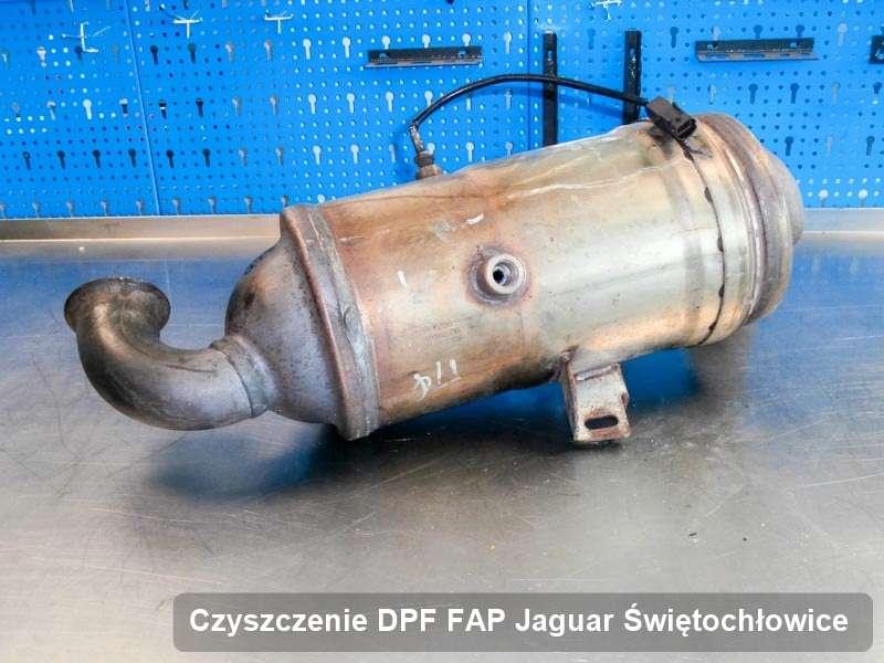 Filtr cząstek stałych DPF I FAP do samochodu marki Jaguar w Świętochłowicach zregenerowany w specjalnym urządzeniu, gotowy do instalacji