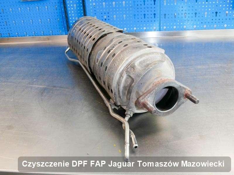 Filtr cząstek stałych do samochodu marki Jaguar w Tomaszowie Mazowieckim dopalony w dedykowanym urządzeniu, gotowy do montażu