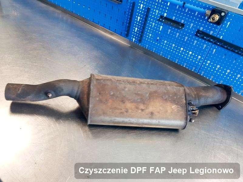 Filtr cząstek stałych DPF do samochodu marki Jeep w Legionowie wypalony w specjalistycznym urządzeniu, gotowy do montażu