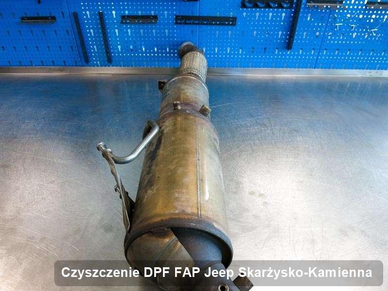 Filtr DPF układu redukcji emisji spalin do samochodu marki Jeep w Skarżysku-Kamiennej wypalony na odpowiedniej maszynie, gotowy do wysyłki