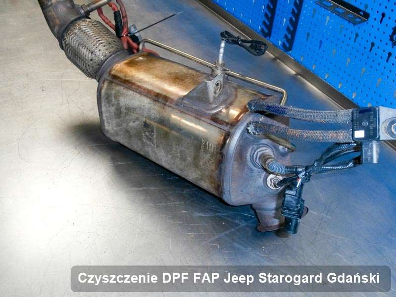 Filtr cząstek stałych DPF do samochodu marki Jeep w Starogardzie Gdańskim wyczyszczony na specjalistycznej maszynie, gotowy do zamontowania
