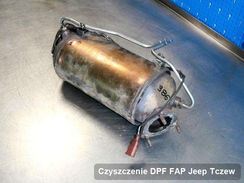 Filtr cząstek stałych DPF do samochodu marki Jeep w Tczewie wyremontowany w specjalnym urządzeniu, gotowy do instalacji
