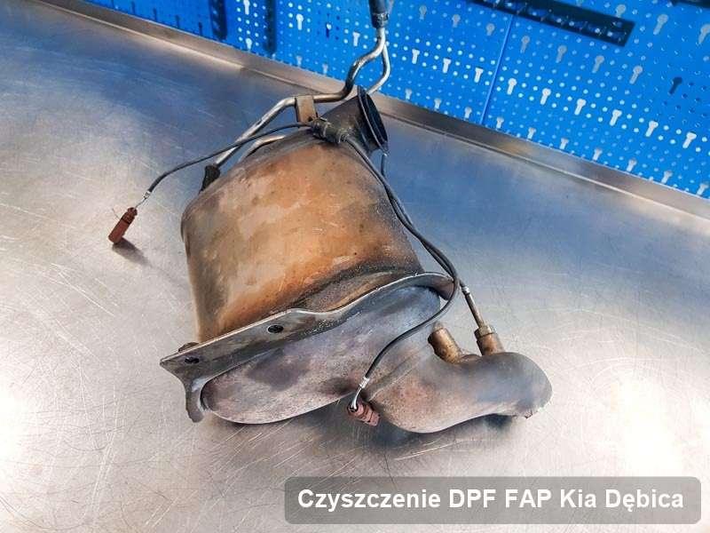Filtr DPF i FAP do samochodu marki Kia w Dębicy wypalony na specjalistycznej maszynie, gotowy spakowania