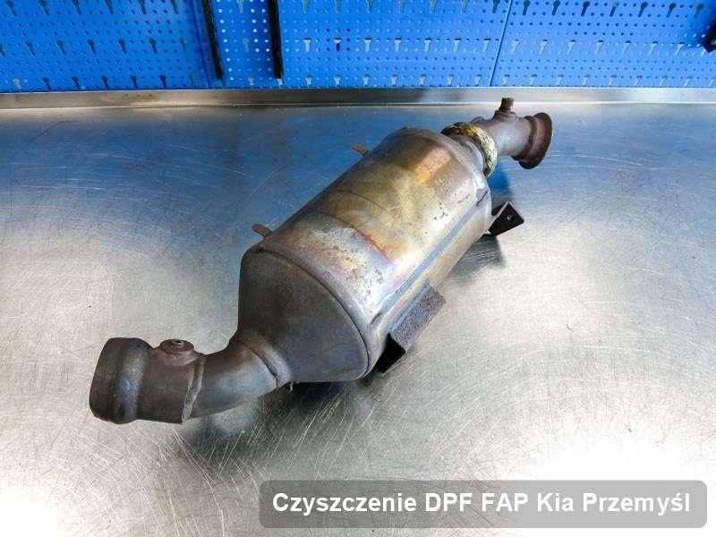 Filtr cząstek stałych DPF I FAP do samochodu marki Kia w Przemyślu oczyszczony w dedykowanym urządzeniu, gotowy spakowania