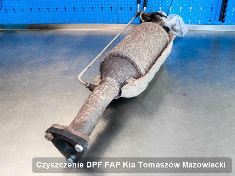 Filtr DPF do samochodu marki Kia w Tomaszowie Mazowieckim dopalony na odpowiedniej maszynie, gotowy do instalacji