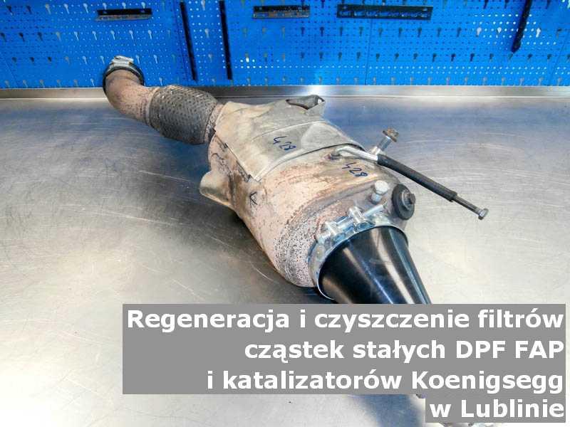 Myty filtr FAP marki Koenigsegg, w pracowni, w Lublinie.