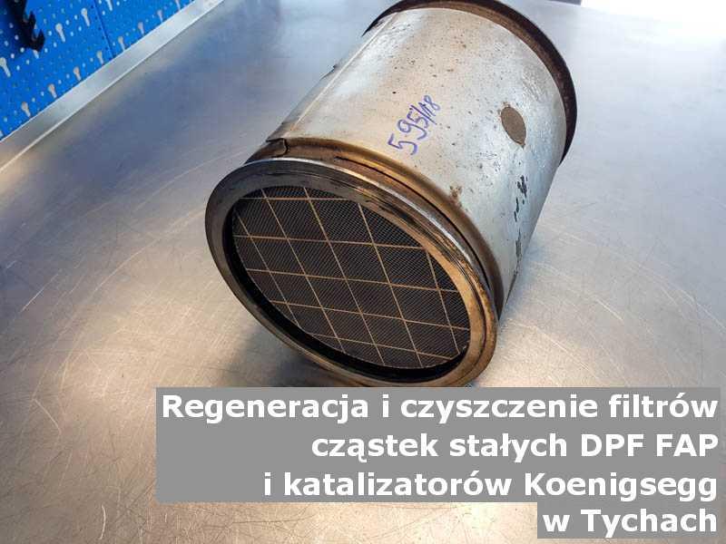 Myty katalizator marki Koenigsegg, w pracowni regeneracji, w Tychach.