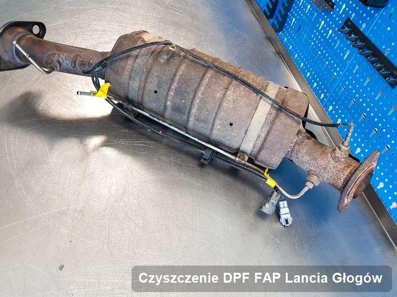 Filtr cząstek stałych DPF do samochodu marki Lancia w Głogowie zregenerowany na odpowiedniej maszynie, gotowy do instalacji
