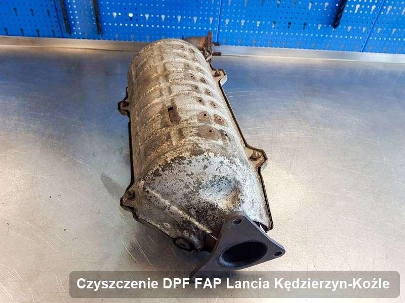 Filtr cząstek stałych FAP do samochodu marki Lancia w Kędzierzynie-Koźlu wypalony na specjalnej maszynie, gotowy do wysyłki